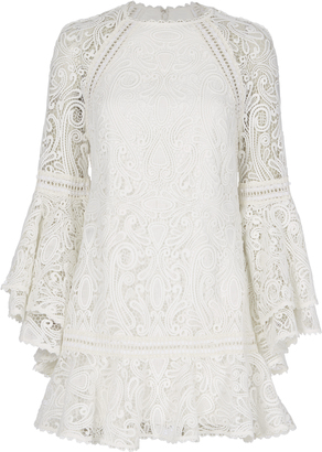Alexis Veronique Lace Flare Dress $525 thestylecure.com