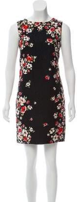 Dolce & Gabbana Matelassé Floral Print Dress