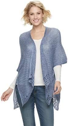 ccbdce83113 Sonoma Goods For Life Women s SONOMA Goods for Life Marled Crochet Ruana
