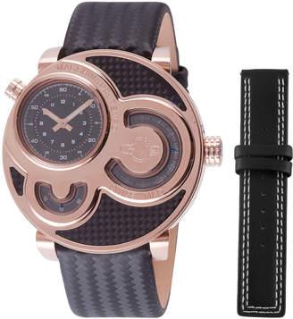Gv2 47mm Macchina Del Tempo Men's Chronograph Watch, Rose Golden