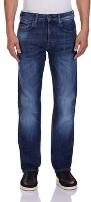 G Star Men's Attacc Straight Fit Jean In Blue Delm Stretch Denim