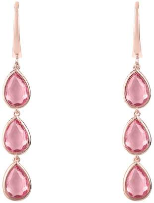 Rosegold Latelita London - Sorrento Triple Drop Earring Pink Tourmaline
