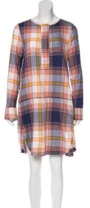 See by Chloe Plaid Print Knee-Length Dress