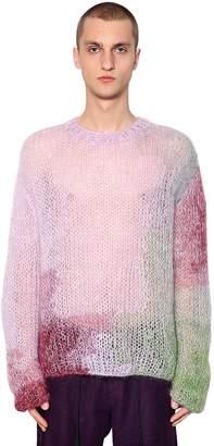 Ann Demeulemeester Handmade Mohair Blend Knit Sweater