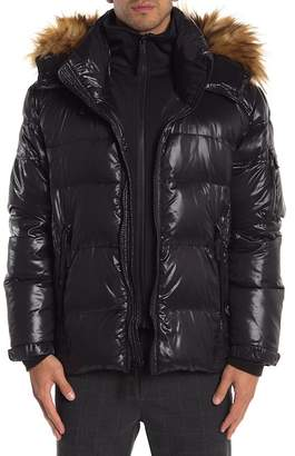 S13 Downhill Faux Fur Lined Hood Quilted Coat
