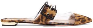Aquazzura Seduction Pvc And Leopard-print Calf Hair Slippers