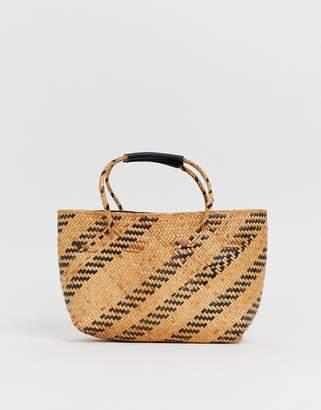 Faithfull The Brand Faithfull aira mini tote straw bag