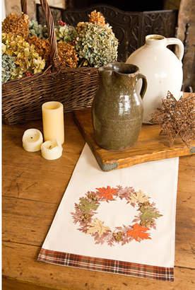 Xia Home Fashions Maple Wreath Fall Table Runner
