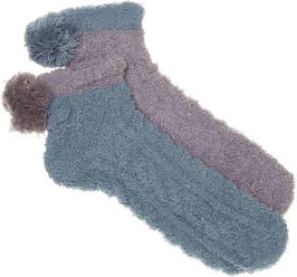 Lemon Pom Slipper Socks - 2 Pack - Women's