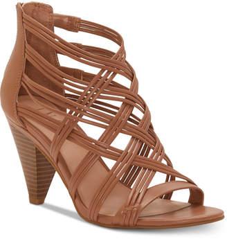 INC International Concepts I.n.c. Women Gustava Strappy Cone-Heel Sandals, Women Shoes