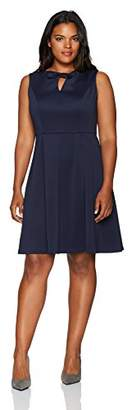Ellen Tracy Women's a-Line Dress with Keyhole-Plus Size