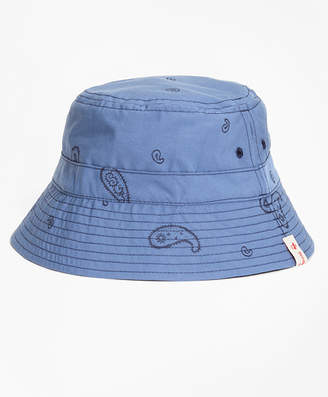Brooks Brothers Reversible Paisley Cotton Jacquard Bucket Hat