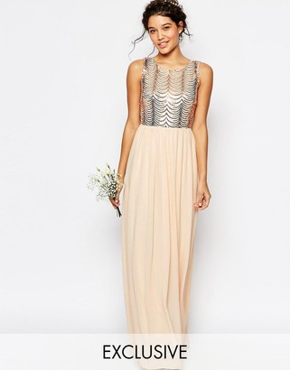 TFNC WEDDING Sequin Maxi Dress with Open Back $106 thestylecure.com