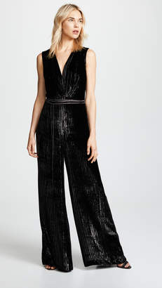 ADAM by Adam Lippes Striped Silk Velvet Jumpsuit