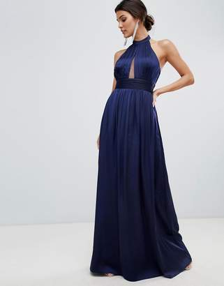 Little Mistress keyhole maxi dress