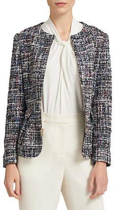 Donna Karan Tweed Zip Jacket