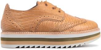Zimmermann Croc-effect Leather Brogues