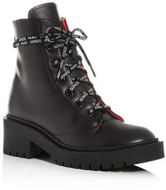 Kenzo Women's Block-Heel Platform Combat Boots