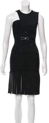Herve Leger Annetta Pleated Dress