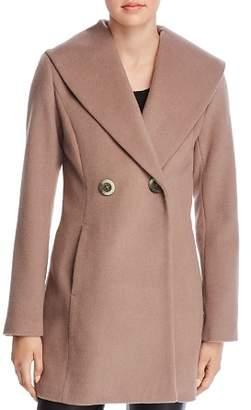 T Tahari Colette Oversized Shawl Collar Coat