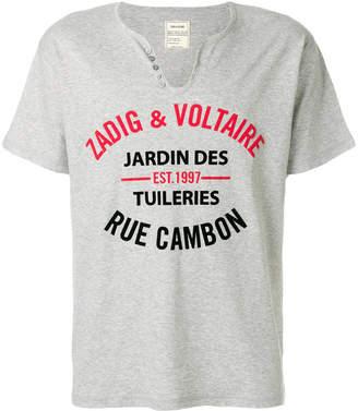 Zadig & Voltaire V-neck logo T-shirt