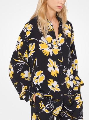 Michael Kors Floral Silk-Georgette Shirt