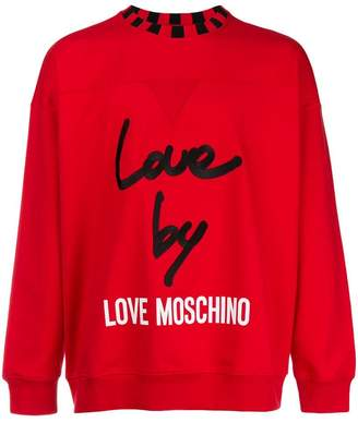 Love Moschino logo patch sweatshirt