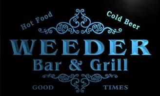 AdvPro Name u47785-b WEEDER Family Name Bar & Grill Home Decor Neon Light Sign