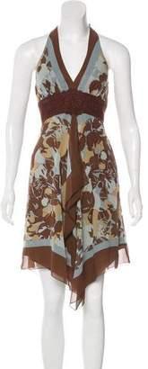 BCBGMAXAZRIA Sleeveless Silk Dress