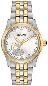 Bulova Women's Diamond Two-tone Heart Watch $262.50 thestylecure.com