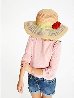 c5b375b6 John Lewis & Partners Children's Rainbow Straw Hat, Neutral