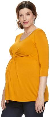 A Glow Maternity a:glow Pleat Front Tee