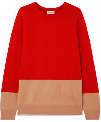 Dries Van Noten Two-tone Cashmere Sweater - Red