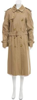 Burberry Vintage Nova Check-Lined Trench Coat