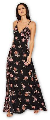 AX Paris Floral V Neck Maxi Dress