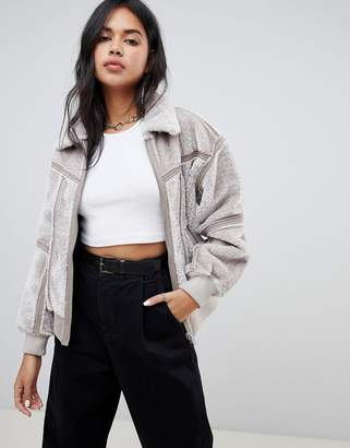G Star G-Star Deline teddy reversible jacket