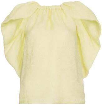Rosie Assoulin Cape silk jacquard top