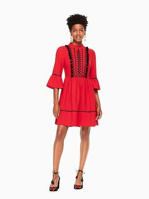 Kate Spade Pom embroidered mini dress