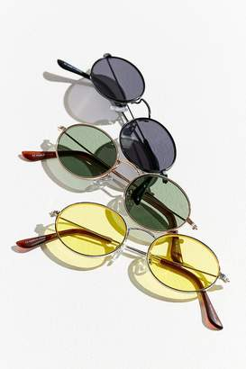 Urban Outfitters Slim Oval Metal Sunglasses