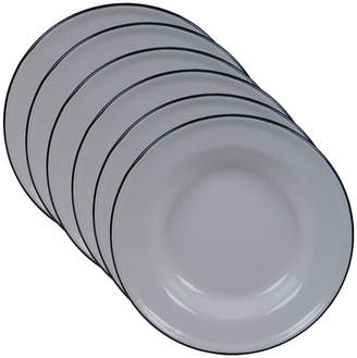 Certified International Enamelware - Cream 6-Pc. Salad Plate