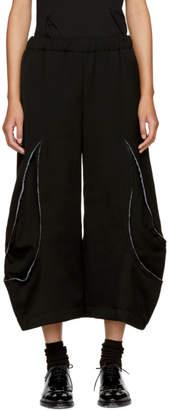 Comme des Garcons Black Panelled Trousers