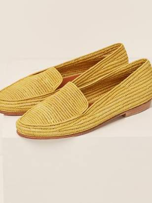 Reformation Proud Mary Raffia Loafers