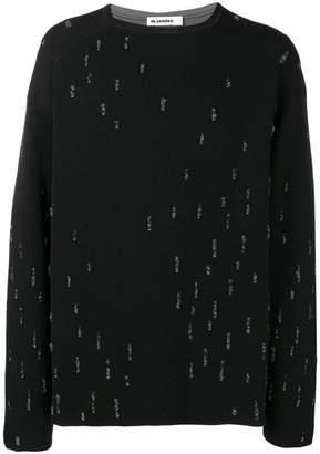 Jil Sander distressed detailed sweater
