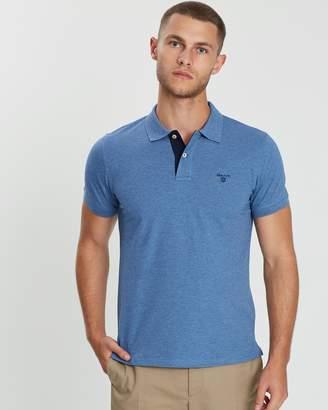 Gant Contrast Collar Pique SS Rugger Polo