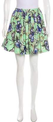 Alice + Olivia Floral Mini Skirt w/ Tags