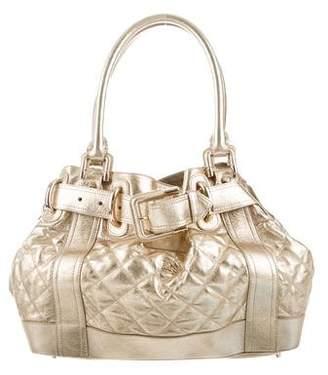 Burberry Metallic Large Beaton Bag