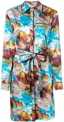 Victoria Victoria Beckham landscape printed shirt dress