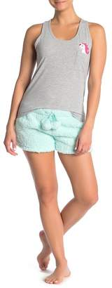 Couture PJ Unicorn My Furry Friends Tank Shorts Pajama 2-Piece Set