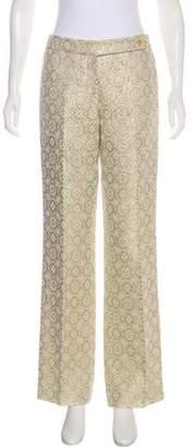 Michael Kors Jacquard Wide-Leg Pants