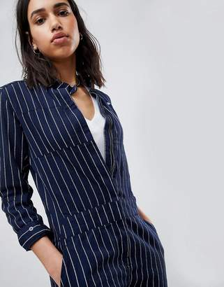 G Star G-Star Pharrell Jumpsuit in Pinstripe